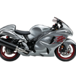 suzuki hayabusa big bike metallic gray