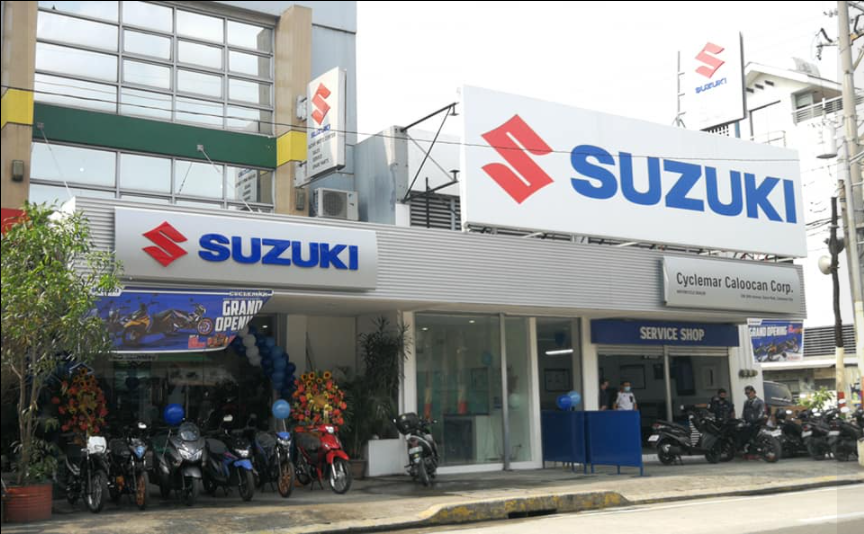 opening of 3s shop new suzuki motorcycle dealer in caloocan philippines