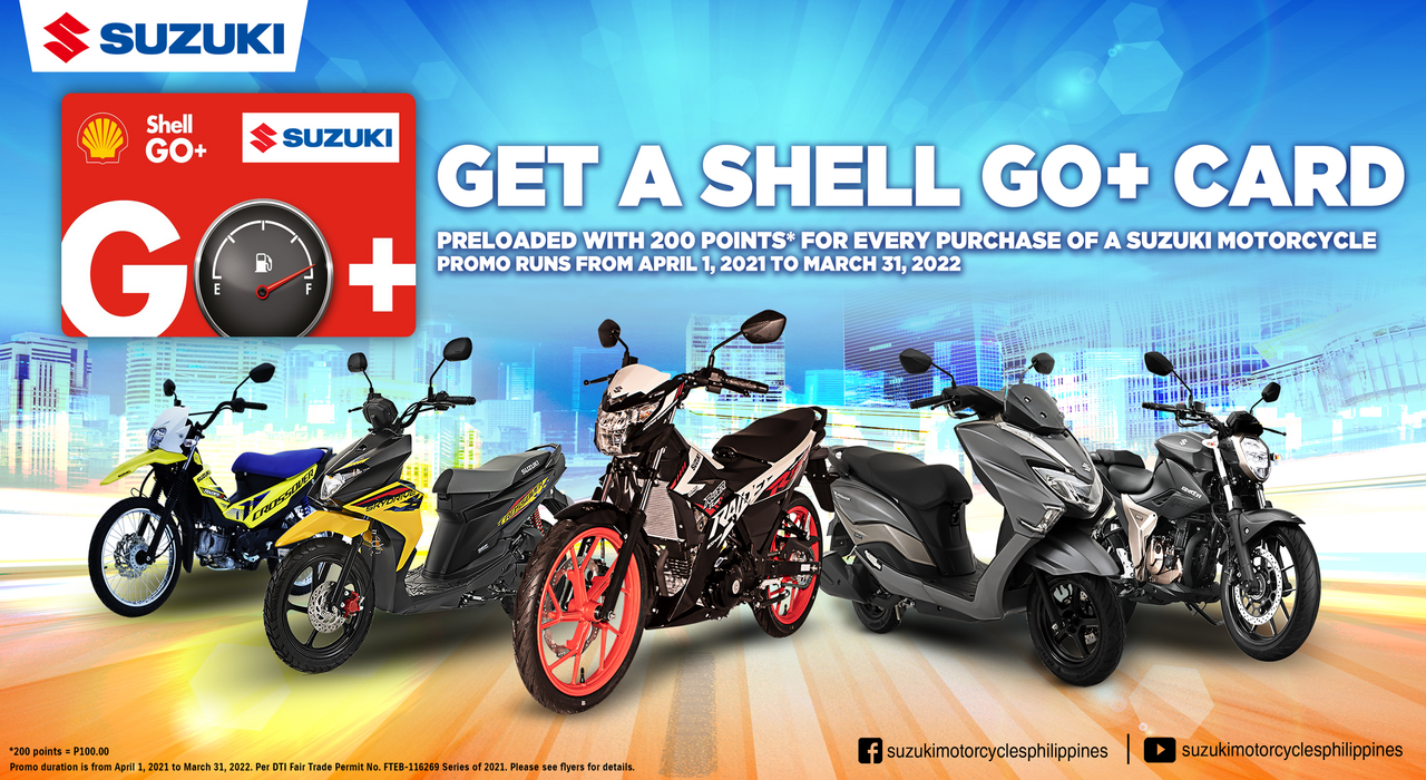 motorcycle promos in the philippines 2021 shell go+ card